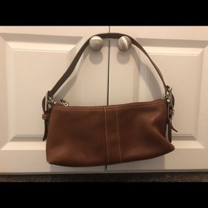 Coach Small Leather Baguette